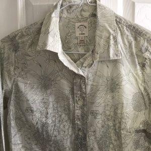 J. Crew liberty print floral shirt 0 xs button